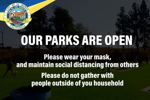 Parks are Open