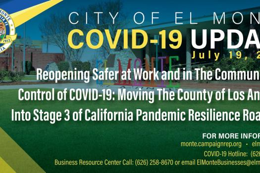 El Monte COVID-19 Update - Emergency Operations Resource Center